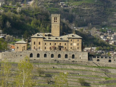 Sarre castle, ancient residence of Savoia, italian king